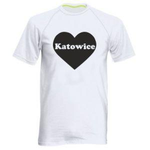 Men's sports t-shirt Katowice in heart