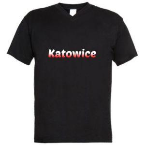 Męska koszulka V-neck Katowice - PrintSalon