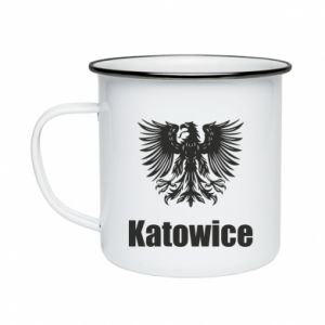 Enameled mug Katowice