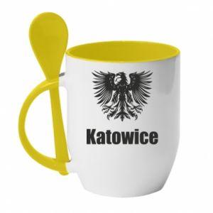 Kubek z ceramiczną łyżeczką Katowice