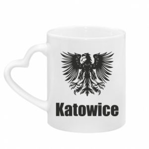 Mug with heart shaped handle Katowice