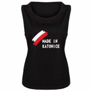Damska koszulka bez rękawów Made in Katowice