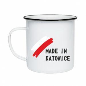 Enameled mug Made in Katowice