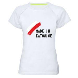 Koszulka sportowa damska Made in Katowice