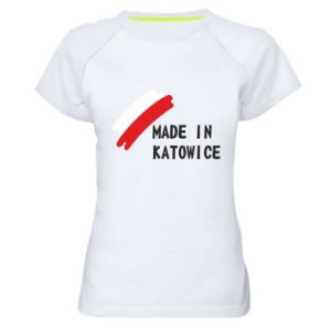 Women's sports t-shirt Made in Katowice