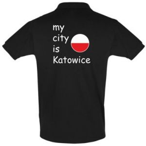 Men's Polo shirt My city is Katowice