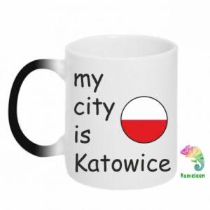 Kubek-kameleon My city is Katowice