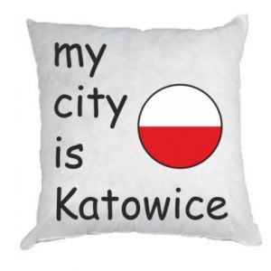 Pillow My city is Katowice