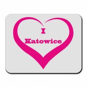 Podkładka pod mysz I love Katowice - PrintSalon