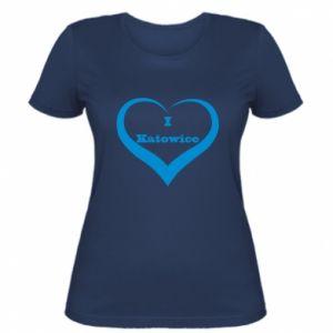 Women's t-shirt I love Katowice