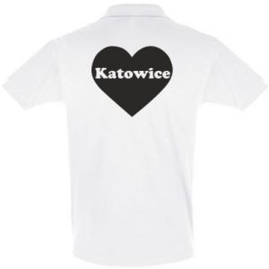 Men's Polo shirt Katowice in heart