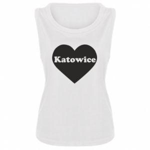 Women's t-shirt Katowice in heart