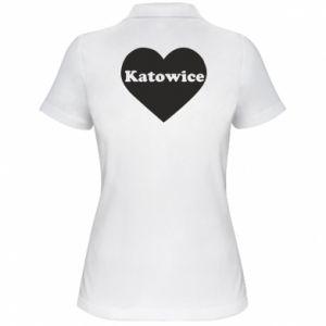 Women's Polo shirt Katowice in heart