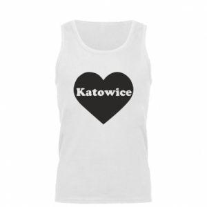 Men's t-shirt Katowice in heart
