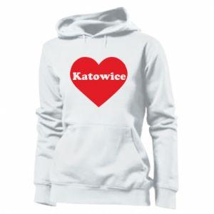 Women's hoodies Katowice in heart
