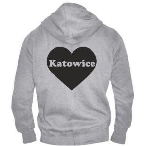 Men's zip up hoodie Katowice in heart
