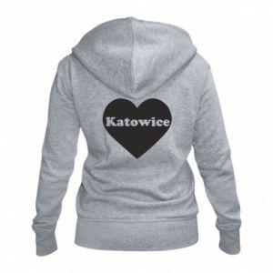 Women's zip up hoodies Katowice in heart