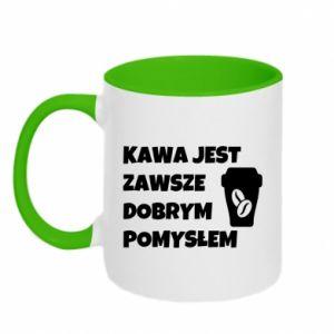Kubek dwukolorowy Kawa jest zawsze dobrym pomysłem