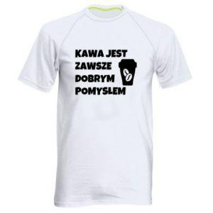 Koszulka sportowa męska Kawa jest zawsze dobrym pomysłem