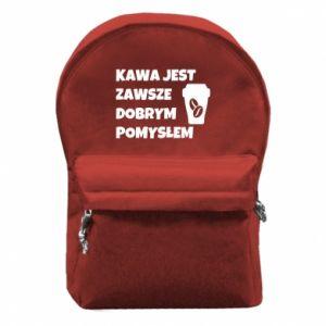 Plecak z przednią kieszenią Kawa jest zawsze dobrym pomysłem