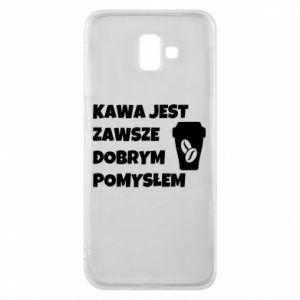 Etui na Samsung J6 Plus 2018 Kawa jest zawsze dobrym pomysłem