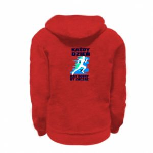 Kid's zipped hoodie % print% Every day is good to start