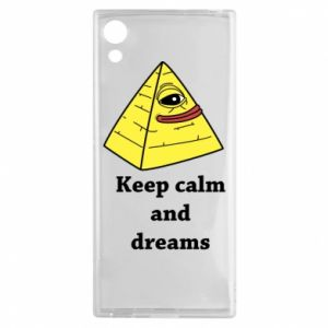 Etui na Sony Xperia XA1 Keep calm and dreams