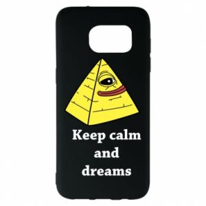 Etui na Samsung S7 EDGE Keep calm and dreams