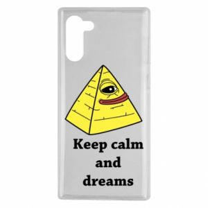 Etui na Samsung Note 10 Keep calm and dreams