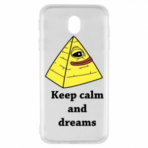 Etui na Samsung J7 2017 Keep calm and dreams