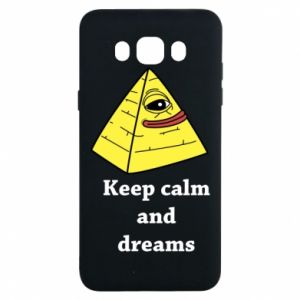Etui na Samsung J7 2016 Keep calm and dreams