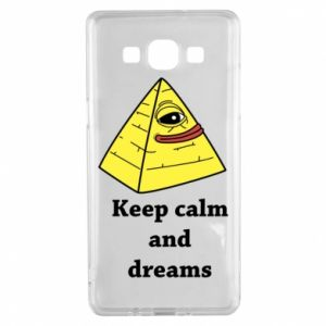 Etui na Samsung A5 2015 Keep calm and dreams