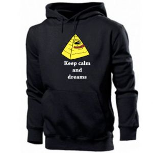 Bluza z kapturem męska Keep calm and dreams