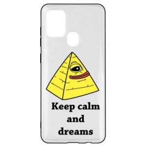 Etui na Samsung A21s Keep calm and dreams