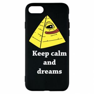 Etui na iPhone SE 2020 Keep calm and dreams