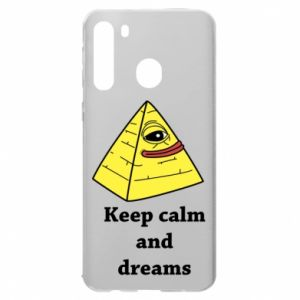 Etui na Samsung A21 Keep calm and dreams