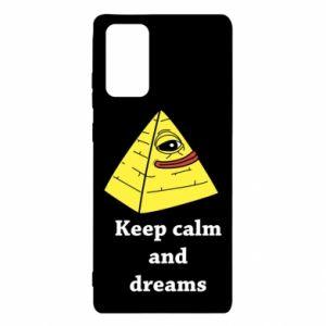 Etui na Samsung Note 20 Keep calm and dreams