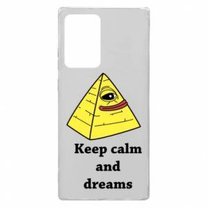Etui na Samsung Note 20 Ultra Keep calm and dreams