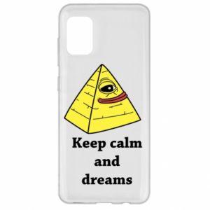 Etui na Samsung A31 Keep calm and dreams
