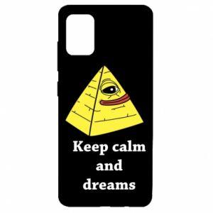 Etui na Samsung A51 Keep calm and dreams