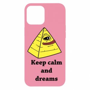 Etui na iPhone 12 Pro Max Keep calm and dreams