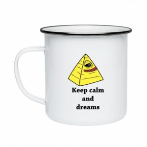 Kubek emaliowany Keep calm and dreams