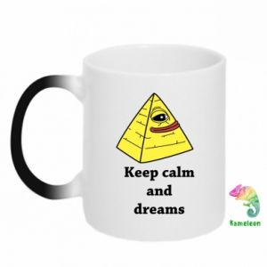Kubek-kameleon Keep calm and dreams