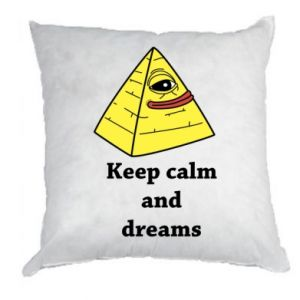 Poduszka Keep calm and dreams