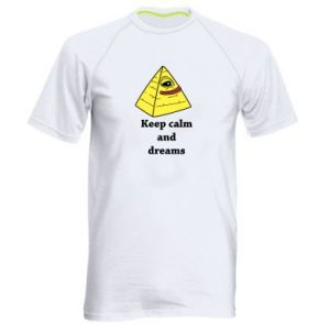 Koszulka sportowa męska Keep calm and dreams