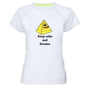 Koszulka sportowa damska Keep calm and dreams