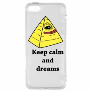 Etui na iPhone 5/5S/SE Keep calm and dreams