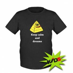 Dziecięcy T-shirt Keep calm and dreams