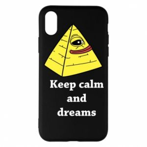 Etui na iPhone X/Xs Keep calm and dreams
