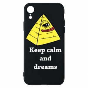 Etui na iPhone XR Keep calm and dreams